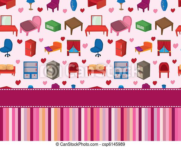 home furniture card  - csp6145989