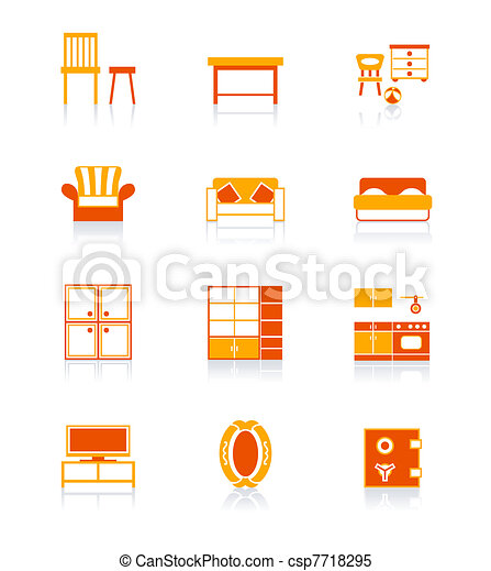 Home furniture icons | JUICY series - csp7718295