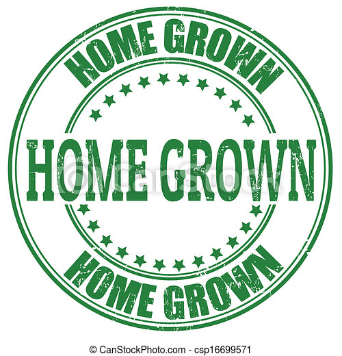 Home Grown stamp - csp16699571