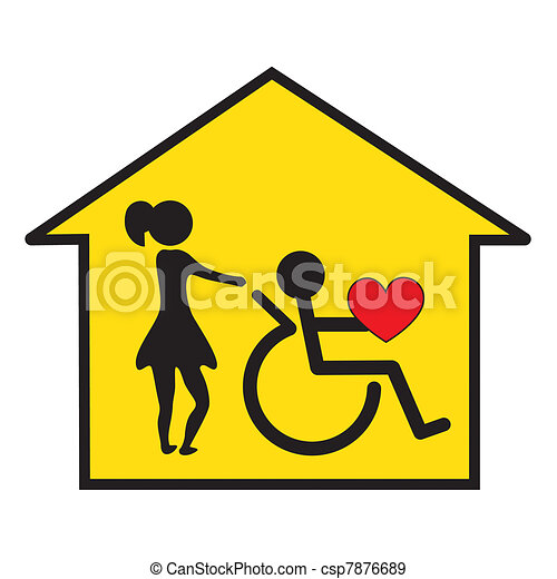 home health care and support signal for the home care of disabled rh canstockphoto ie Materials Clip Art home health care clipart