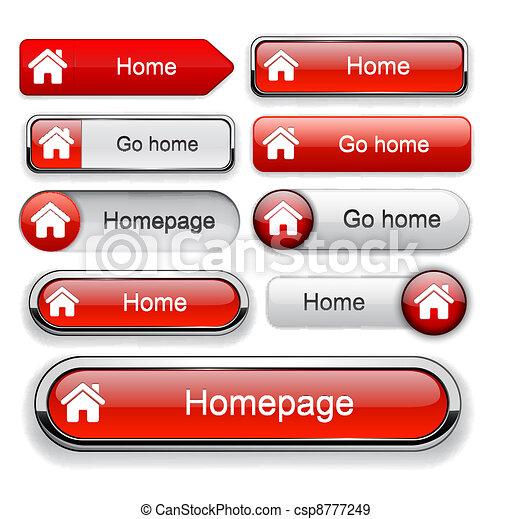 Home high-detailed web button collection. - csp8777249