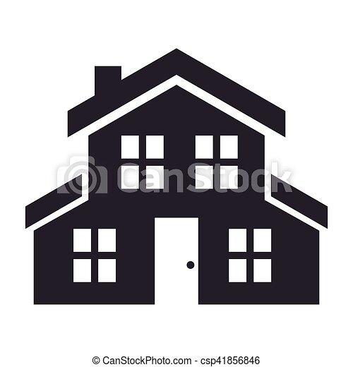 home house silhouette icon vector illustration design
