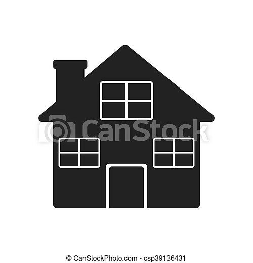 home house silhouette icon vector graphic home house vectors rh canstockphoto co uk old house silhouette vector house silhouette vector free