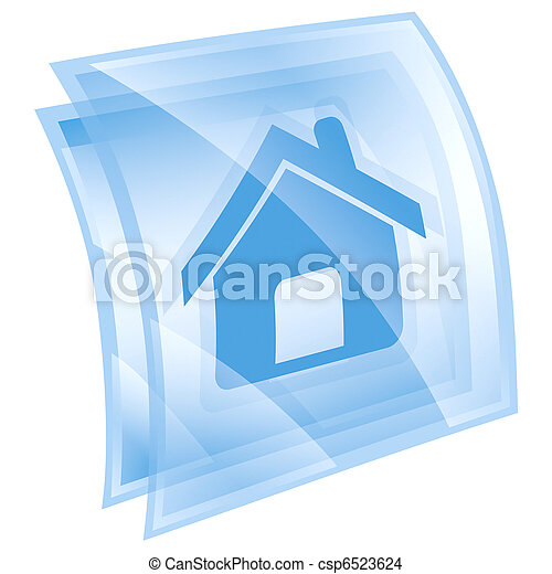 home icon blue, isolated on white background - csp6523624
