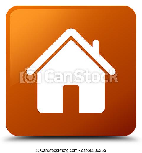Home icon brown square button - csp50506365