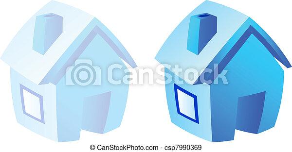 Home icon. - csp7990369
