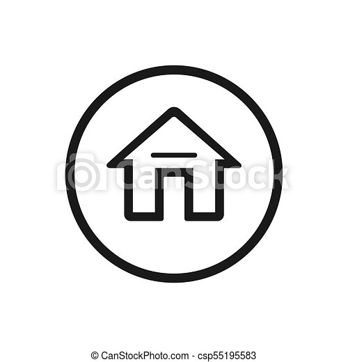 Home icon on a white background - csp55195583