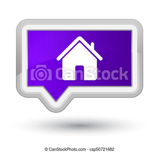 Home icon prime purple banner button - csp50721682