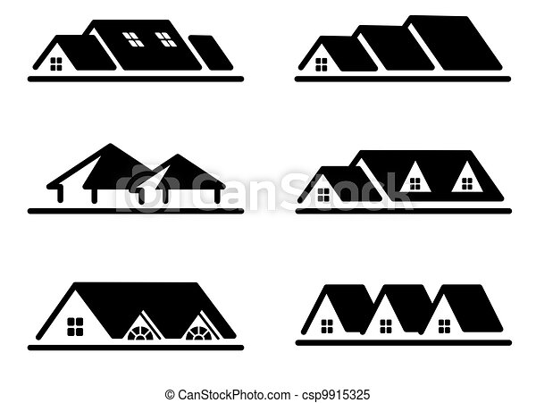 Home Icon Set Different Home Roof Icon Set