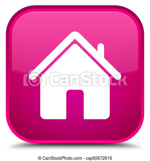 Home icon special pink square button - csp50672616
