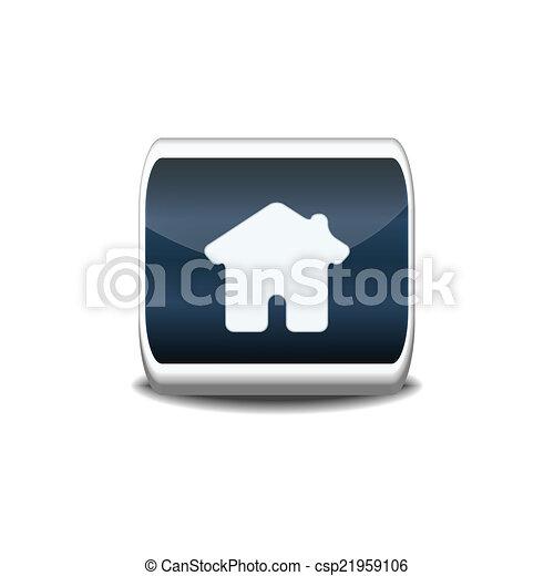 Home icon ,vector button - csp21959106