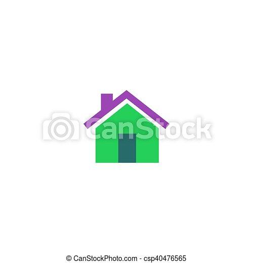 Home Icon Vector - csp40476565
