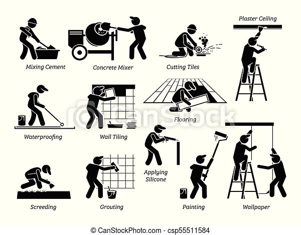 Home Improvement and House Renovation Icons. - csp55511584