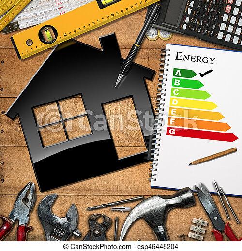 Home Improvement Concept - Energy Efficiency - csp46448204
