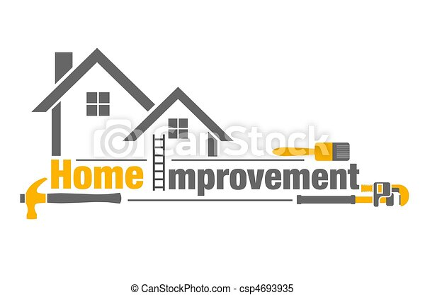 home improvement an illustration of home improvement icon on white