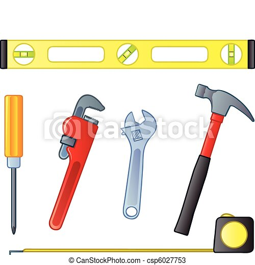 Vectors of home improvement tools six common home for House remodeling tools