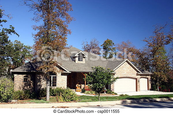 Home in fall - csp0011555