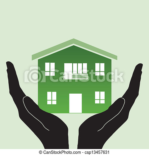Home in hand  - csp13457631