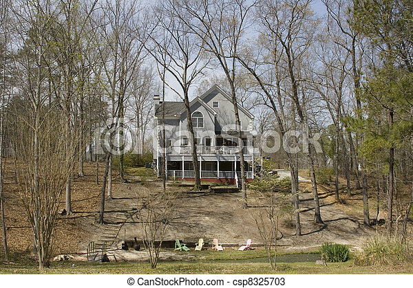 Home in the Woods - csp8325703