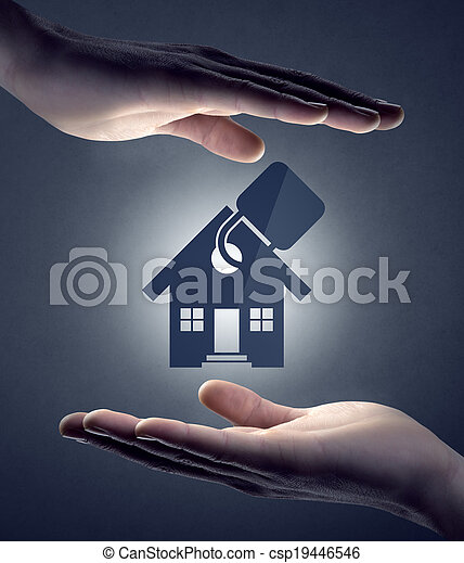 Home insurance and safety - csp19446546