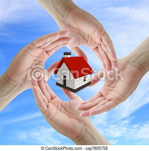 Home insurance concept - csp7805758