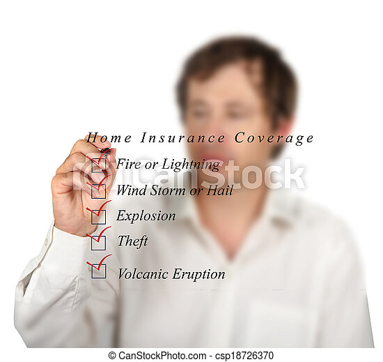 Home insurance coverage - csp18726370
