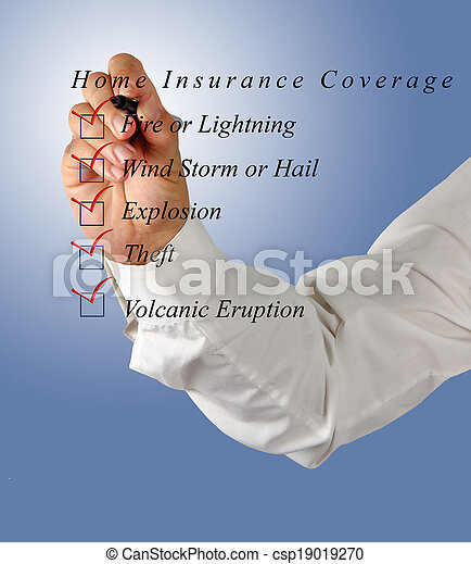 Home insurance coverage - csp19019270