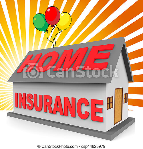 Home insurance meaning housing indemnity 3d rendering ...
