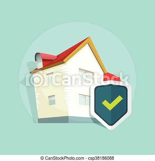Home insurance vector, real estate property protection ...