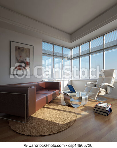 home interior 3d rendering - csp14965728