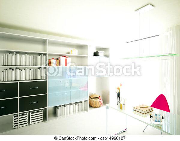 home interior 3d rendering - csp14966127