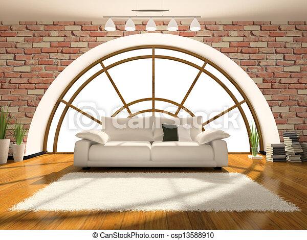 Home interior 3D rendering - csp13588910