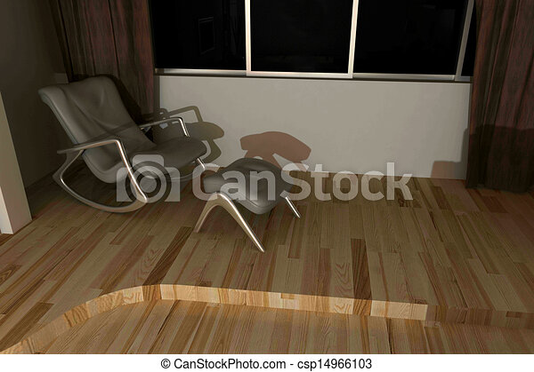 home interior 3d rendering - csp14966103