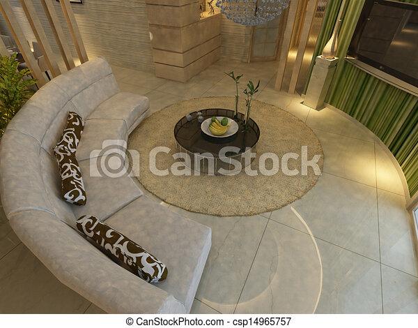 home interior 3d rendering - csp14965757