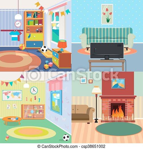 Home Interiors Set Children Bedroom Interior Living Room With Impressive Design Home Interiors Set