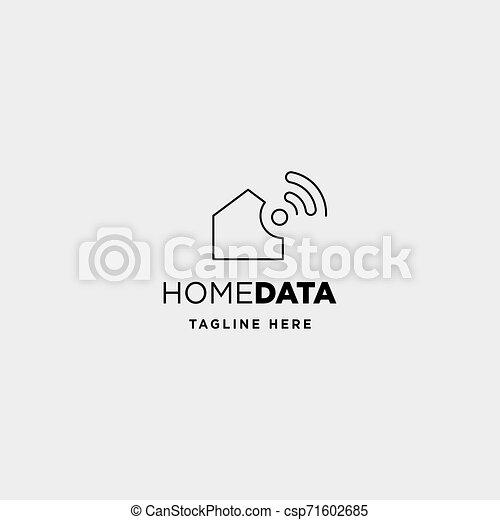 home internet logo design vector wifi home icon siymbol sign