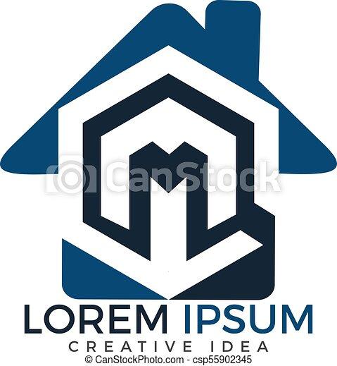 Home Letter M Logo Design