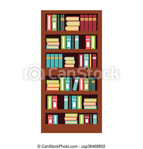 home library with books isolated flat icon vector vector clipart rh canstockphoto com