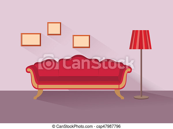 Home lounge interior. living room furniture with sofa stock ...