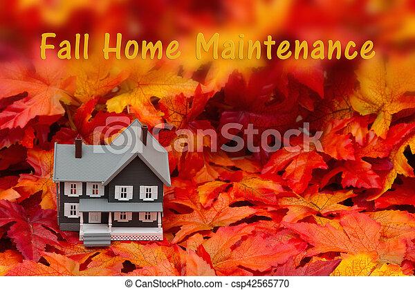 Home maintenance for the fall season - csp42565770
