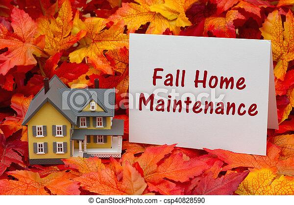 Home maintenance for the fall season - csp40828590