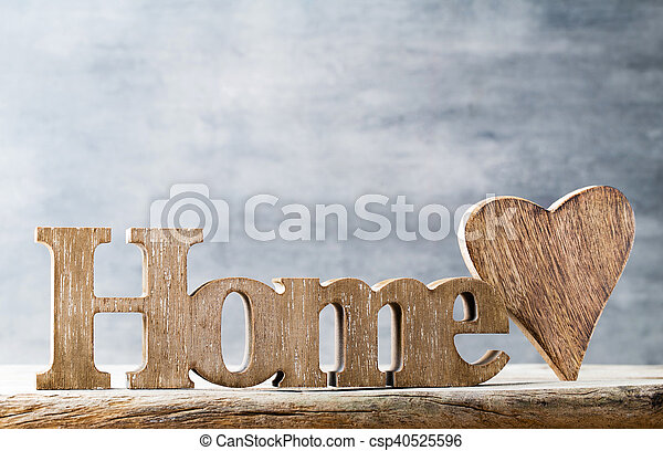 Message Of Home With Wooden Letters