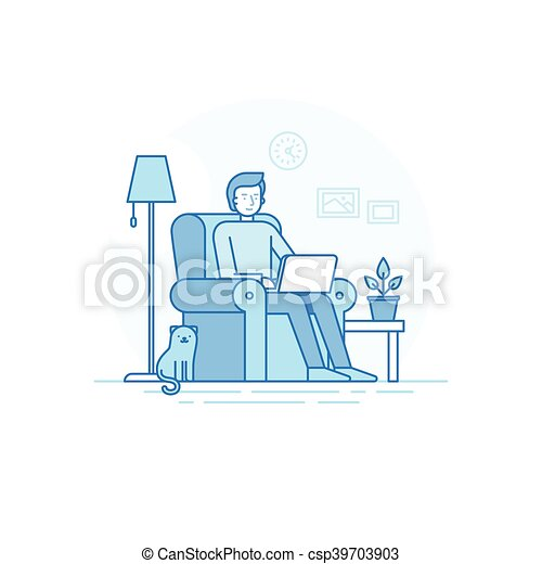 Home Office And Remote Freelance Work Concept   Csp39703903