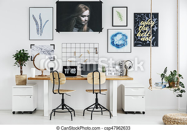 trendy home office. Wonderful Office Home Office Design  Csp47962633 To Trendy Office F