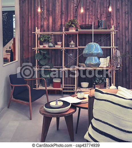 home patio with decorative objects - csp43774939