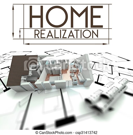 Home Realization With Project Of House   Csp31413742
