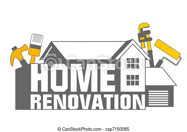 home improvements clipart and stock illustrations 13 281 home rh canstockphoto com home improvement store clipart Home Improvement Tools