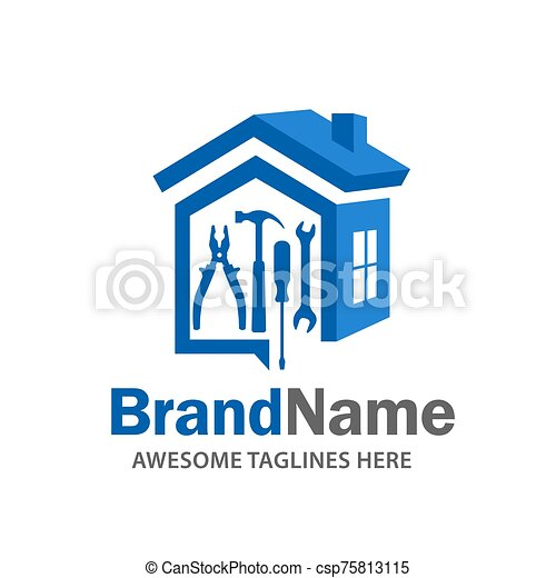 Home Renovation Logo Real Estate Logo Property And Construction Logo Design Vector Canstock
