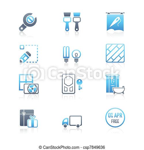 Home repair icons   MARINE series - csp7849636