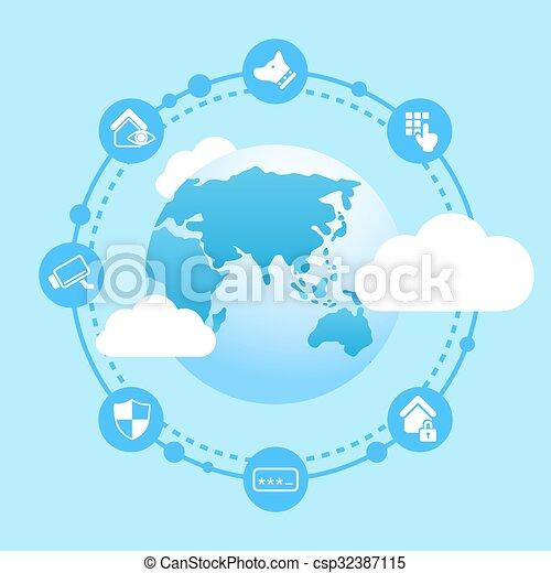 Home Security Concept - csp32387115